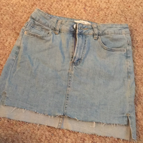 Forever 21 Dresses & Skirts - Never Worn, High-Low Denim Mini Skirt